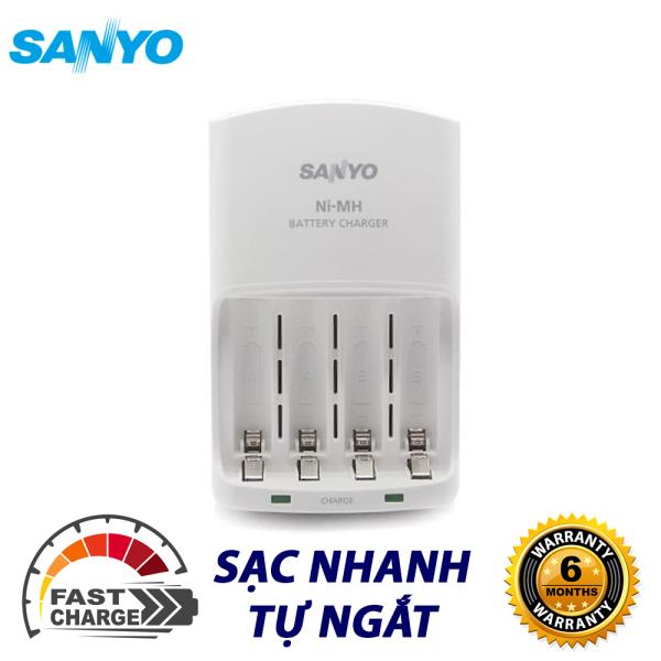 Giá Bộ Sạc Pin AA / AAA Sanyo Eneloop Sạc Nhanh, Tự Ngắt Sạc