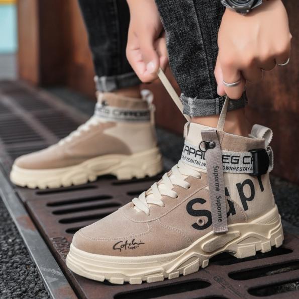 Giày cao cổ da nam da lộn Suproomee kiểu dáng siêu ngầu - B end T Shop giá rẻ
