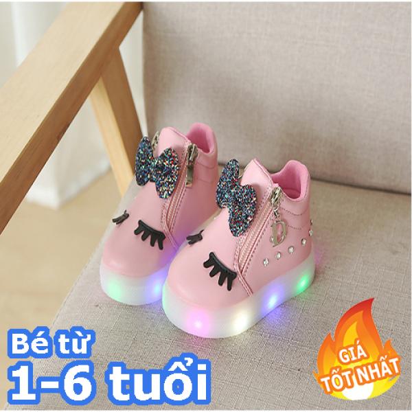 Giá bán giày thể thao mi thỏ phát sáng-Giày bé gái - giay be gai - giày cho bé gái - giay cho be gai - giày trẻ em - giày thể thao bé gái