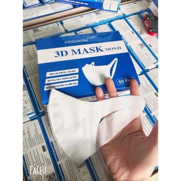 Hộp 50 Chiếc Khẩu Trang 3D Mask Monji Kháng Khuẩn