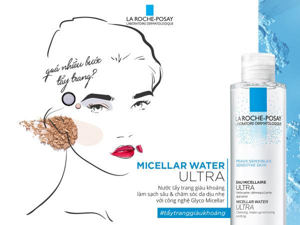 [SẢN PHẨM BÁN CHẠY] Nước Tẩy Trang Làm Sạch Sâu Cho Da Nhạy Cảm La Roche-Posay Micellar Water Ultra Sensitive Skin 200ml TOP BÁN CHẠY - Loại bỏ mọi bụi bẩn, lớp makeup trên khuôn mặt, Mang lại cảm giác tươi mới tức thì