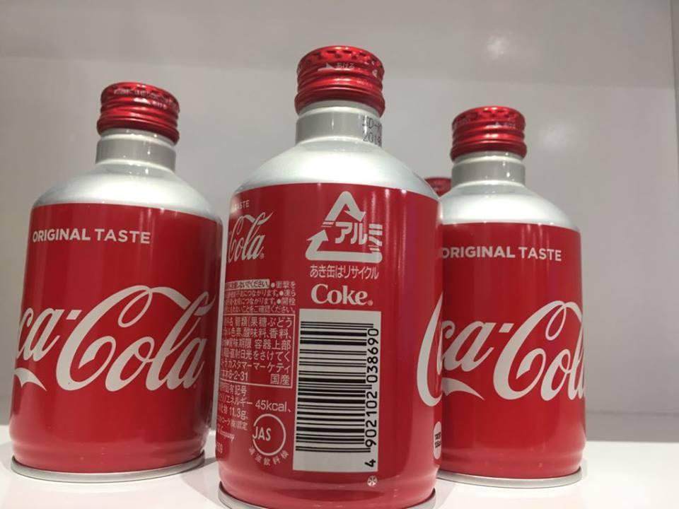 Coca cola Nhật Bản chai nắp vặn 300ml