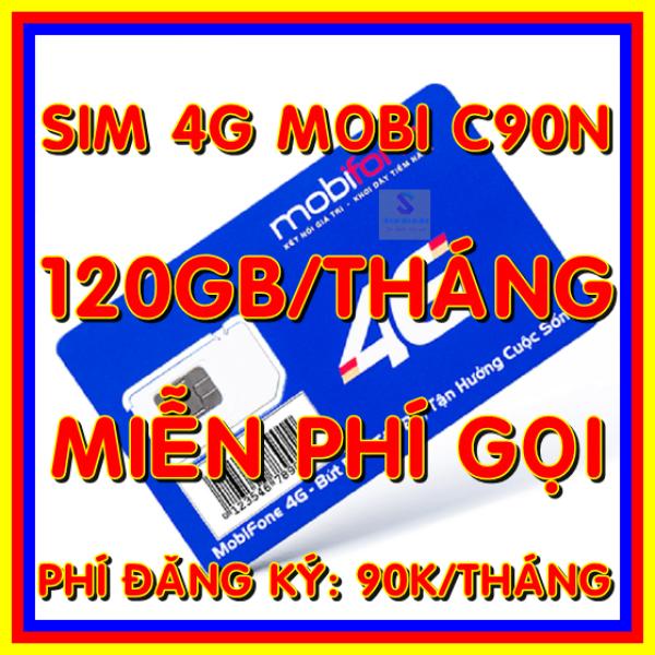 Sim 4g Mobifone C90N gói 4Gb/ngày (120Gb/tháng) + 50 phút gọi ngoại mạng - Sim Mobi C90N xài thả ga - Shop sim giá rẻ