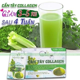 Cần tây tươi 100% nguyên chất và collagen thực vật giảm cân hiệu quả tại nhà Thiên Nhiên Việt hộp 30 gói thumbnail