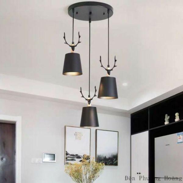 Bộ ba đèn thả bàn ăn - đèn thả hươu dễ thương - đèn trang trí quán cafe