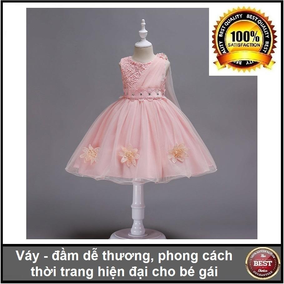 Giá bán Váy đầm dễ thương phong cách hiện đại cho bé gái từ 4 đến 7 tuổi