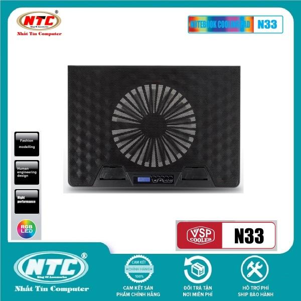 Bảng giá Đế tản nhiệt VSP COOLER N33 cho laptop từ 10 đến 15.6 Led RGB (Đen) - Nhất Tín Computer Phong Vũ