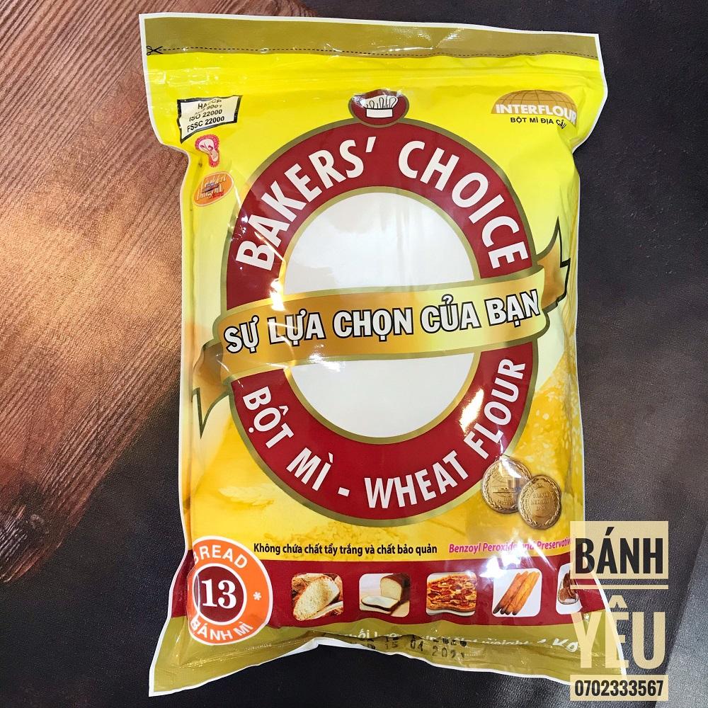 Bột Mì Số 13 Bakers Choice 1kg Dùng để chế biến các loại bánh Xuất sứ Việt Nam Dễ bảo quản