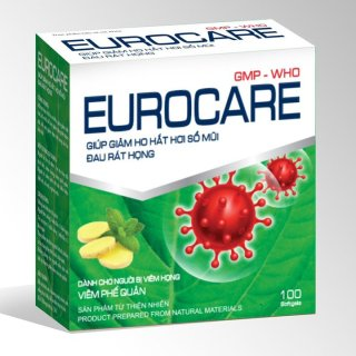 Eurocare Viên Uống Hỗ Trợ Giảm Viêm Phế Quản, Viêm Họng ,Hỗ trợ tiêu đờm,tăng cường sức đề kháng, nâng cao hệ miễn dịch- hộp 100 viên thumbnail