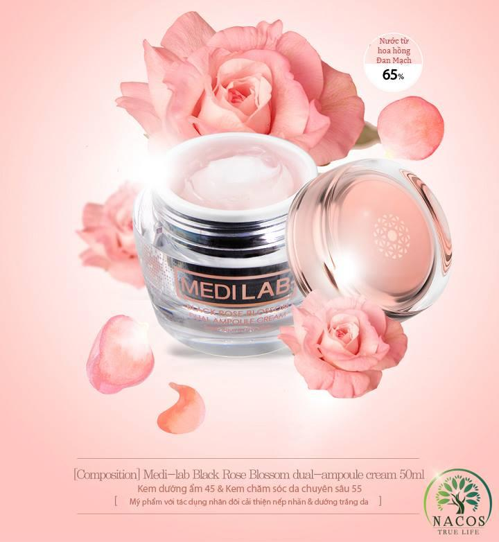Kem Dưỡng Hoa Hồng Đen MEDI LAB Black Rose Blossom Dual Ampoule Cream