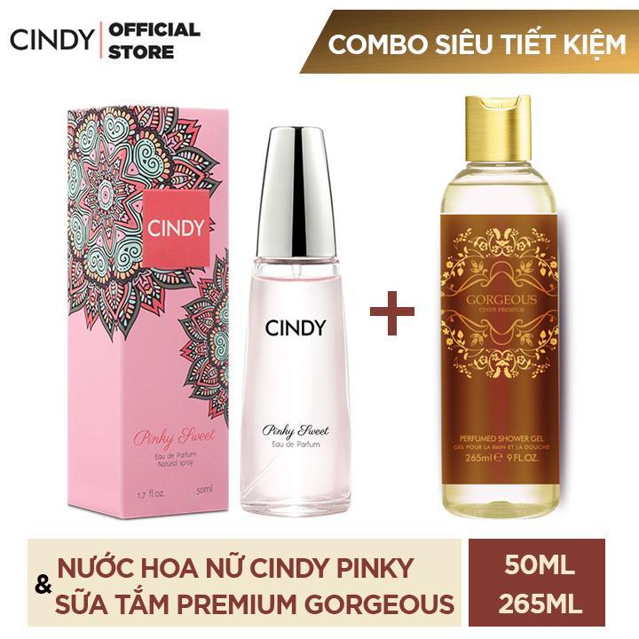 Combo Nước Hoa Cindy Pinky Sweet 50ml + Sữa tắm Cindy Premium 265ml nhập khẩu