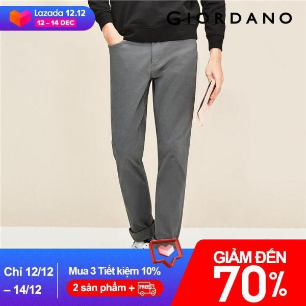 Quần kaki dài nam chất liệu dày dặn form slim ôm dáng thương hiệu quốc tế Giordano 01110089 Free Shipping 01118027