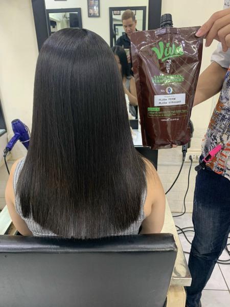 Thuốc uốn duỗi tóc thông minh VIVA 1000ml*2, không lo cháy tóc giá rẻ