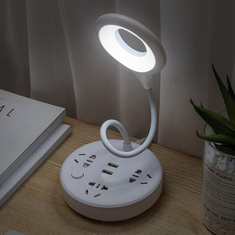 Ổ cắm đa năng 3 IN 1 YB có thẻ xoay 360 độ, gồm đèn, cổng USB và ổ cắm điện, 3 chế độ đèn, kèm thể giá đỡ điện thoại, chất liệu chịu nóng chống cháy tiện ích đa năng thích hợp cho sinh viên hoặc các bạn làm văn phòng