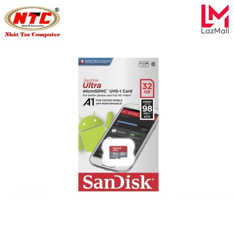 Thẻ nhớ MicroSDHC SanDisk Ultra A1 32GB Class 10 U1 98MB/s box Anh - Model 2019 (Đỏ)