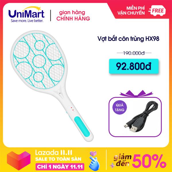 Vợt Muỗi Cao Cấp Công Nghệ Siêu Âm UniMart XH-9919 - Công nghệ an toàn cho trẻ nhỏ+ Đèn Pin siêu sáng + Bảo hành 1 đổi 1 trong vòng 1 năm
