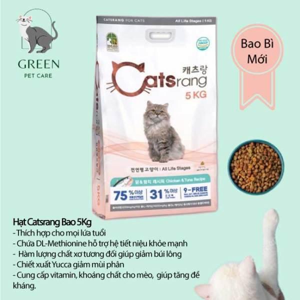 Thức Ăn Hạt Catsrang Cho Mèo Bao 5Kg ( có túi chiết 1kg )