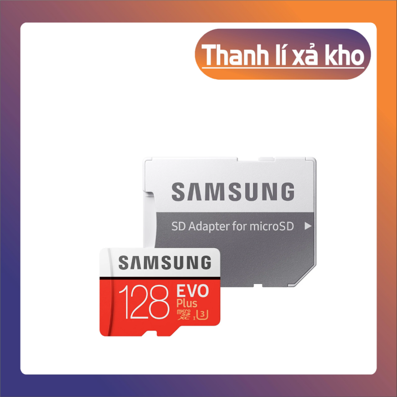 Thẻ nhớ MicroSDXC Samsung Evo Plus 128GB U3 4K R100MB/s W60MB/s - Box Anh Thẻ nhớ cho camera wifi, camera hành trình, điện thoại, máy chơi game, chất lượng hình ảnh 4k - Hàng Chính Hãng