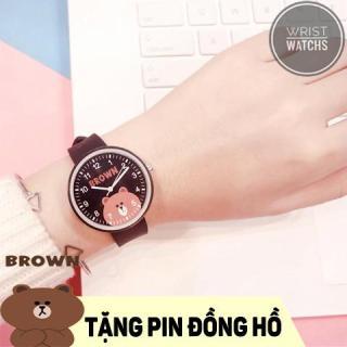 [HCM]Đồng hồ Unisex Candycat gấu brown dây cao su mềm không gây đau tay có chống nước - 3 màu lựa chọn thumbnail
