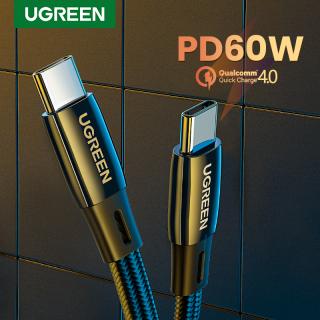 Cáp sạc nhanh UGREEN USB C sang USB C 60W Sạc nhanh PD hợp kim kẽm phẳng thumbnail