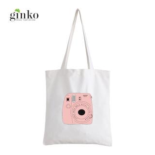 Túi Vải Tote GINKO Kiểu Basic Dây Kéo In Hình Máy Ảnh Instax Fuji G55 thumbnail