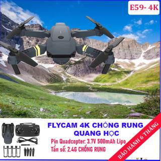 Flycam Mini Drone Camera 4k Cao Cấp, Máy bay camera 4k, flycam mini giá rẻ điều khiển từ xa quay phim, chụp ảnh, chống rung kết nối wifi có tay cầm điều khiển thumbnail