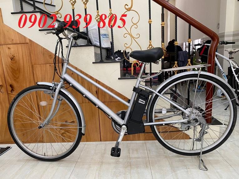 Mua Xe đạp điện trợ lực có tay ga xạc pin Nhật Bản Taskal hàng nội địa Nhật mới 80%