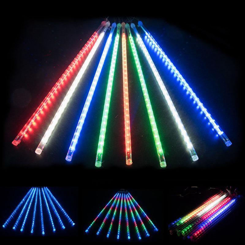 LED Sao Băng Trang Trí Sáng Trắng 8 Ống 60Cm