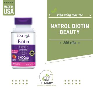 Viên uống đẹp da, tóc & móng - Natrol Biotin Beauty 5,000 mcg (250 viên) thumbnail