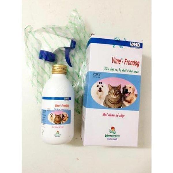 Vime-Frondog Chai xịt ve rận, bọ chét cho chó & mèo