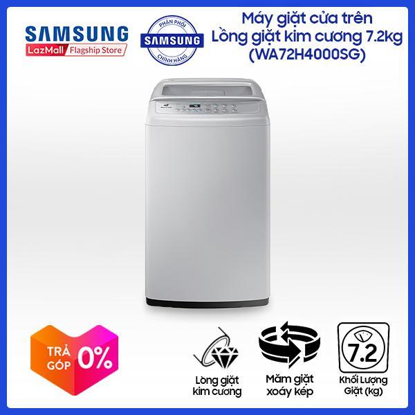 Máy giặt cửa trên Lồng giặt kim cương Samsung WA72H4000SG/SV (7.2kg) - Hàng phân phối chính hãng