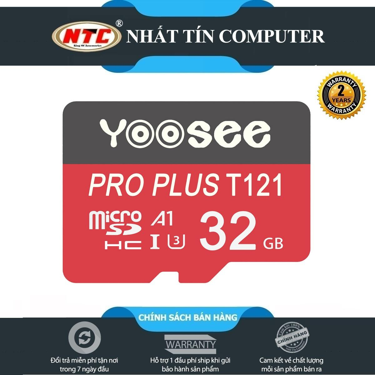Thẻ nhớ microSDHC Yoosee Pro Plus 32GB A1 U3 4K 95MB/s (Đỏ) - chuyên điện thoại và camera