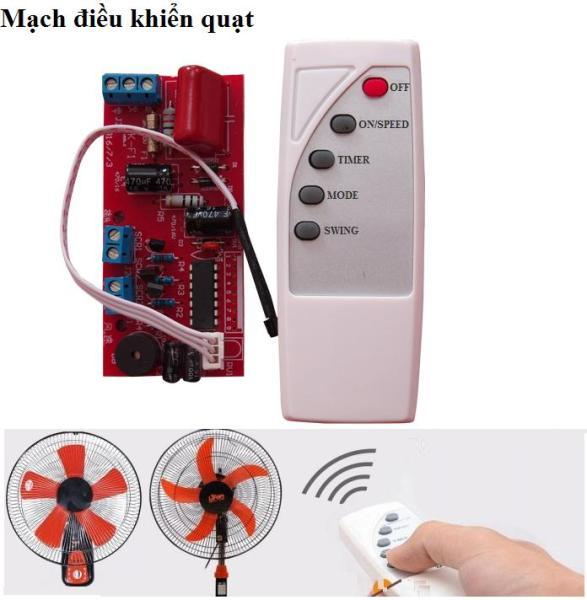 Bảng giá Bộ mạch điều khiển quạt từ xa mạch xịn có cầu chì chống quá tải điều khiển bản quốc tế, mạch điều khiển quạt từ xa, công tắc điều khiển từ xa