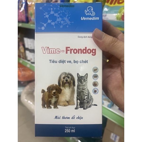 [HCM]Xịt ve rận cho chó mèo Frondog
