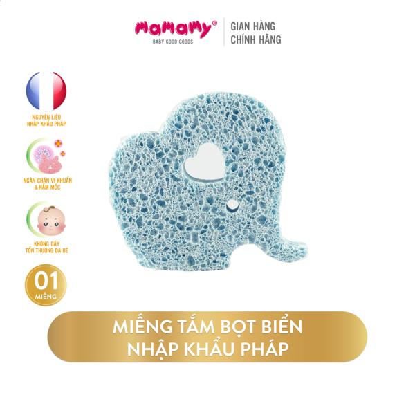 Miếng tắm bọt biển Cellulose tự nhiên Mamamy, tẩy da chết, an toàn cho trẻ sơ sinh