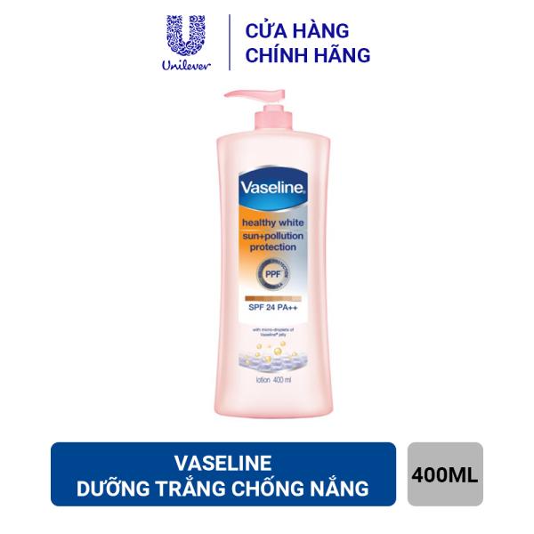 Sữa Dưỡng Thể Vaseline Trắng Da Chống Nắng Và Ô Nhiễm (400ml) giá rẻ