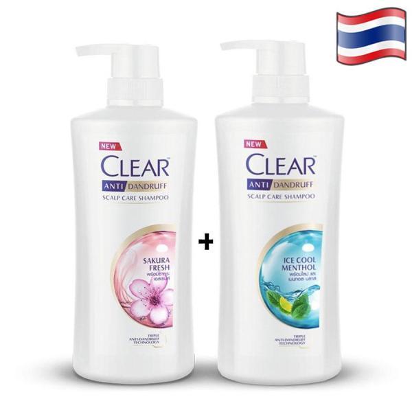 COMBO 2 CHAI DẦU GỘI CLEAR BẠC HÀ VÀ CLEAR HOA ANH ĐÀO- 480ml/chai