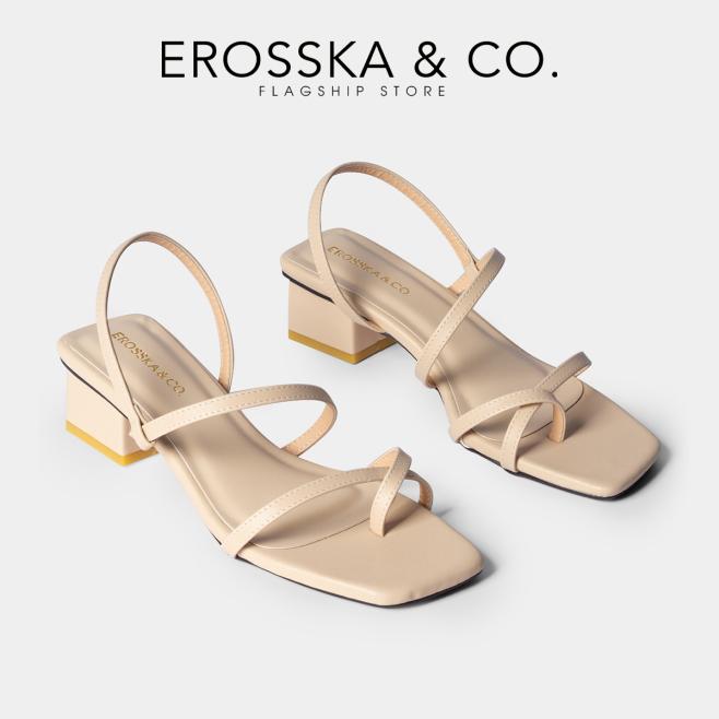 Giày sandal cao gót nữ Erosska kiểu dáng xỏ ngón dây mảnh thời trang cao 5cm EB024 (NU) giá rẻ
