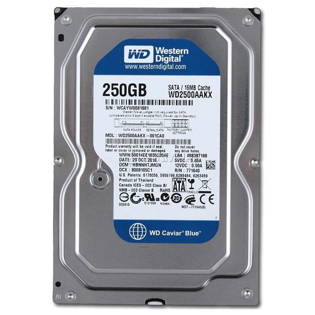 HDD 250Gb WD-blue SATA