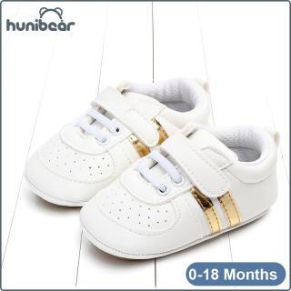 Baby Chàng Trai Cô Gái Giày Trắng Giày Mềm Giày Bé Duy Nhất Thể Thao Giản Dị Giày 0-18 Tháng