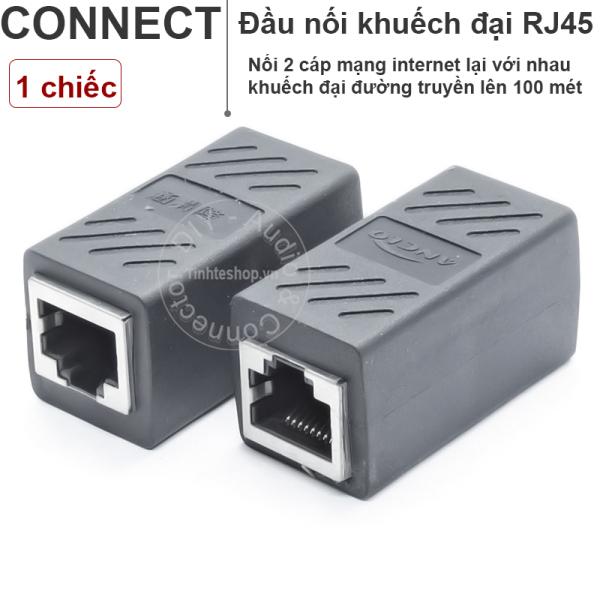 Bảng giá 1 chiếc - Đầu nối cáp mạng RJ45 Cat5 Cat6 Giagabit - Cục nối và khuếch đại dây mang LAN cổng RJ45 Phong Vũ