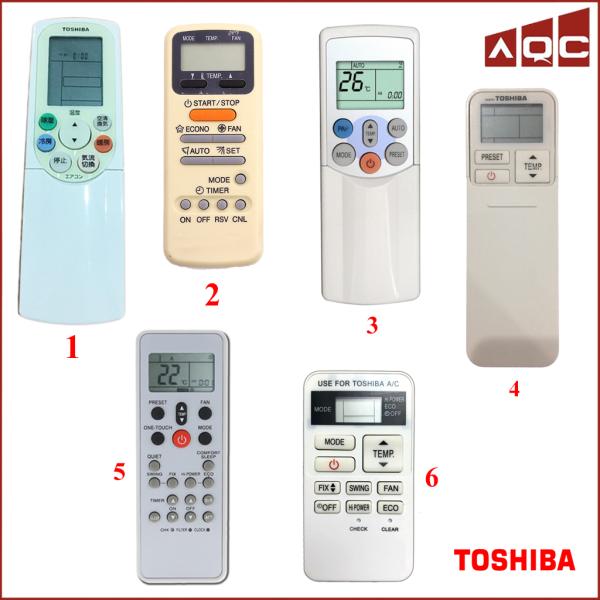 Remote máy lạnh Toshiba - Điều khiển điều hoà TOSHIBA chính hãng [CHỌN MÃ]