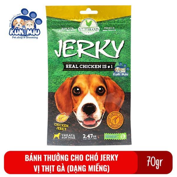 Bánh thưởng cho chó Jerky 70gr Vị thịt gà dạng miếng
