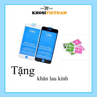 Cường Lực Iphone Full màn 10D - Cường lực ip (tặng khách giấy lau Khô - Ướt) thumbnail
