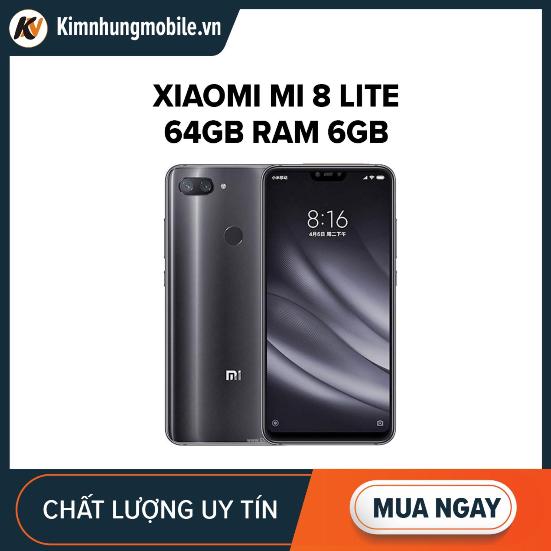 Xiaomi Mi 8 Lite 64GB Ram 6GB Kim Nhung (Đen)