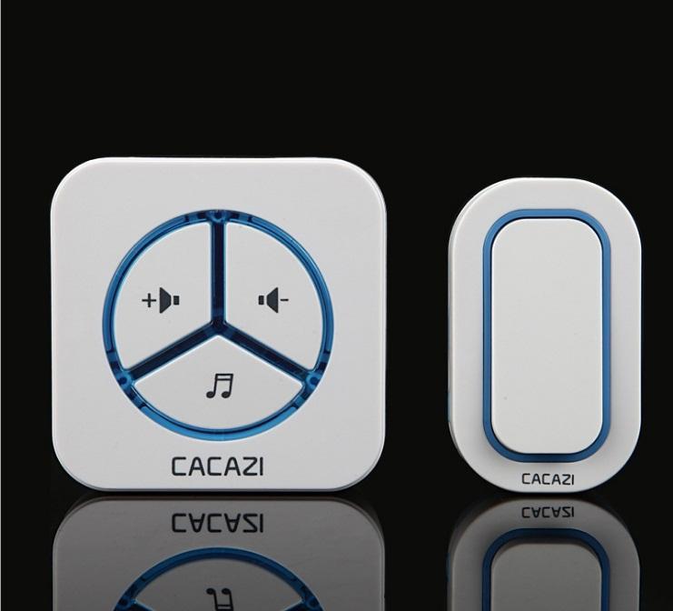 Chuông cửa không dây cao cấp  CACAZI 9909 nút nhấn chống nước