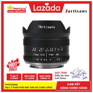 (Chính hãng) Ống kính MF 7Artisans 7.5mm f2.8 Fisheye mark II dành cho máy ảnh Fujifilm X, Sony E, Canon EOS-M, Olympus M43 và Nikon Z thumbnail