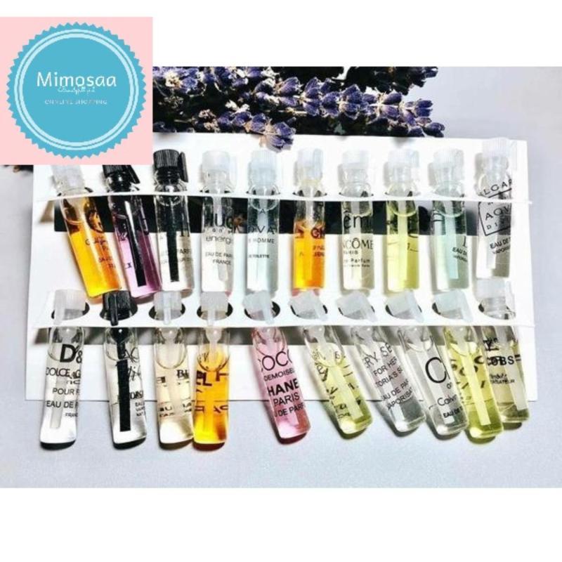 set 20 chai nước hoa mini đủ mùi-20 chai 2ml/ chai- hộp màu trắng hương thơm dễ chịu đa dạng cho bạn nhiều sự lựa chọn mỗi ngày nhập khẩu