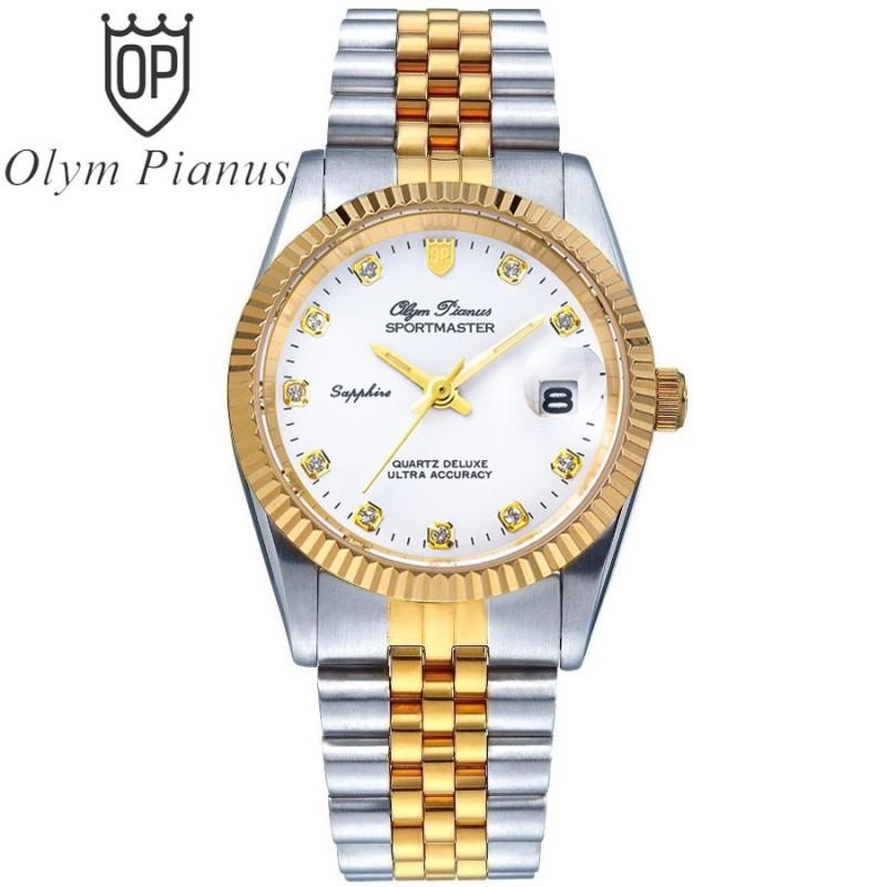 Đồng hồ nam mặt kính sapphire Olym Pianus OP89322 OP89322MSK trắng bán chạy