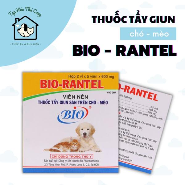 [HCM]Tẩy Giun Sán BIO-RANTEL Cho Chó Mèo - Xổ Giun Chó Mèo ( 1 viên)